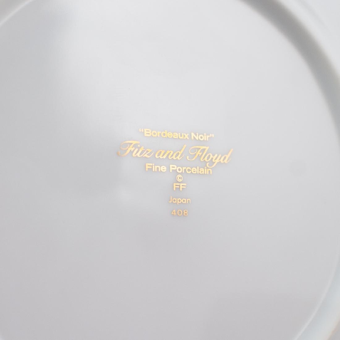 """Fitz & Floyd """"Bordeaux Noir"""" Porcelain Plates - 3"""