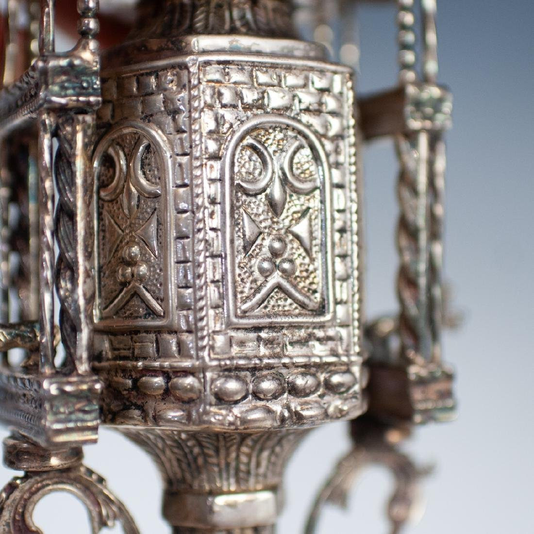 Judaica Sterling Silver Spice Tower - 5