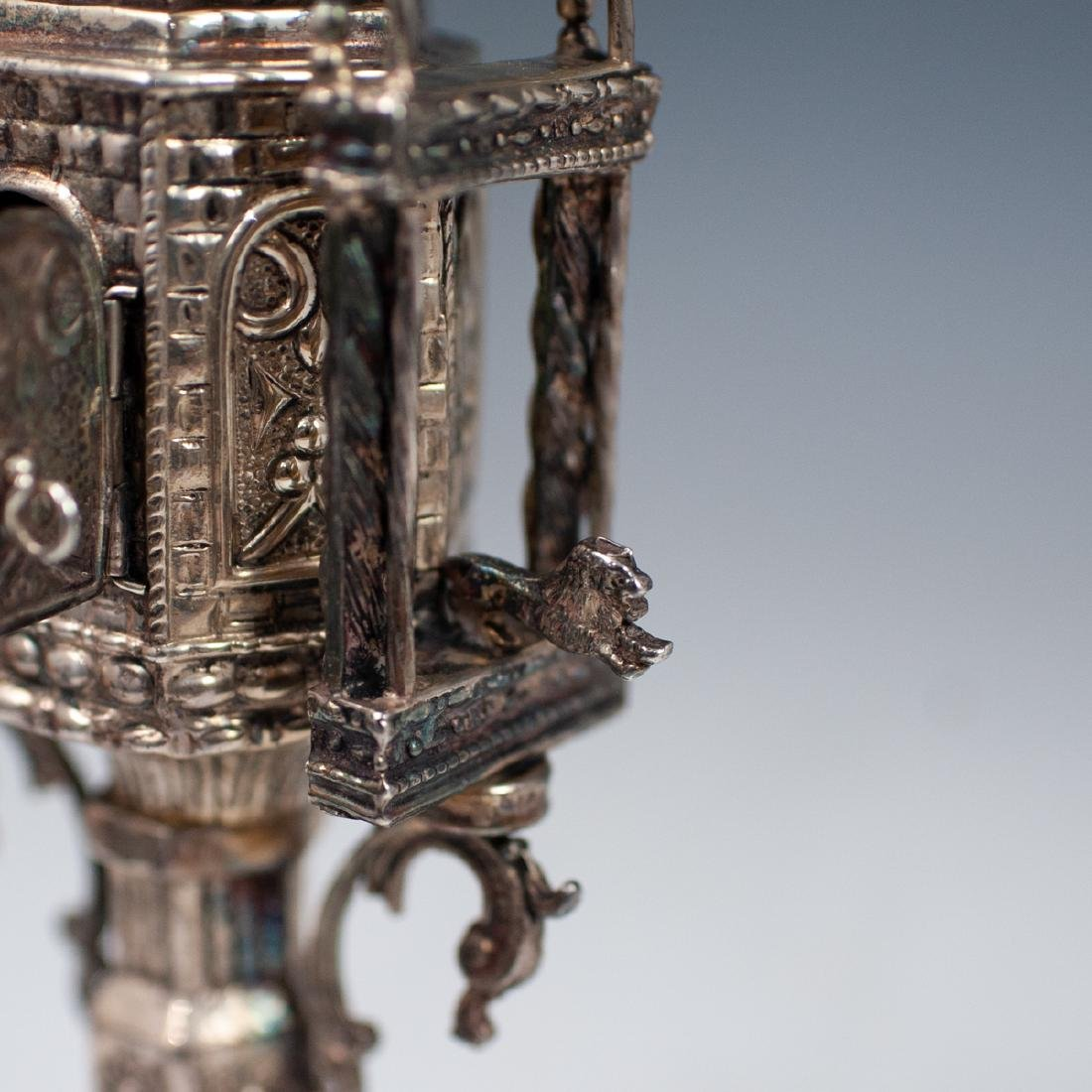 Judaica Sterling Silver Spice Tower - 8
