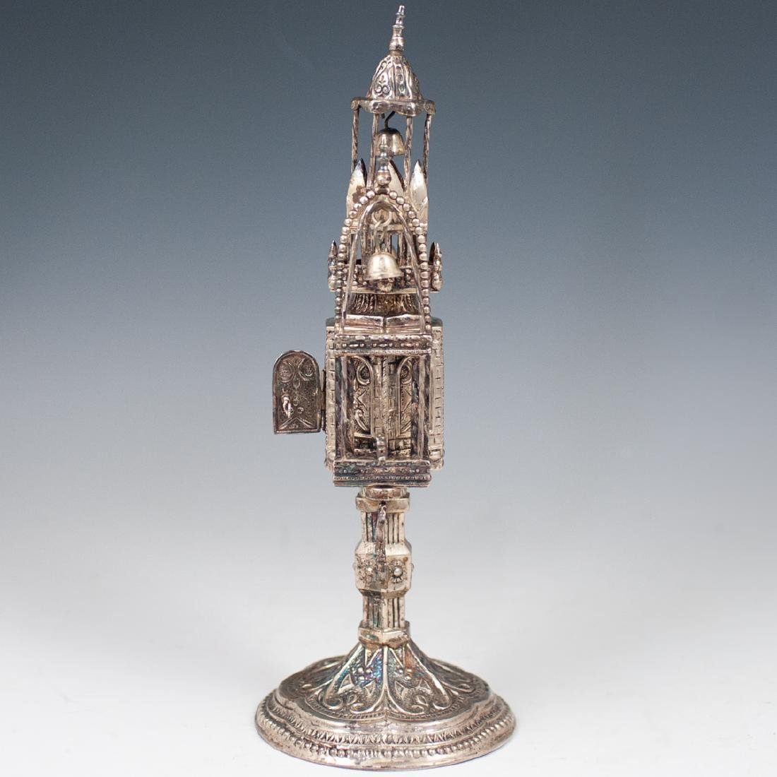 Judaica Sterling Silver Spice Tower - 9