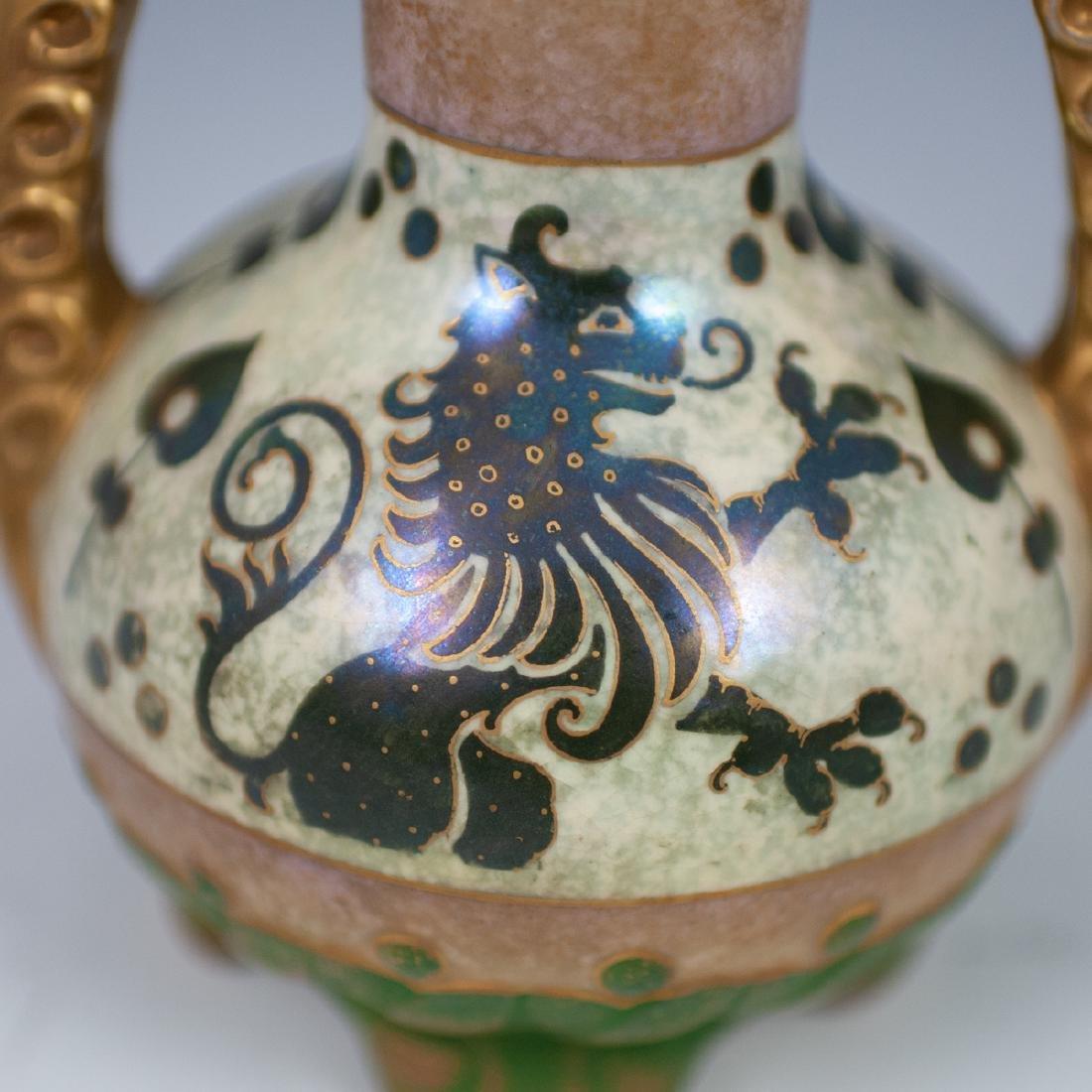 Royal Copenhagen Porcelain Double Handle Vase - 5