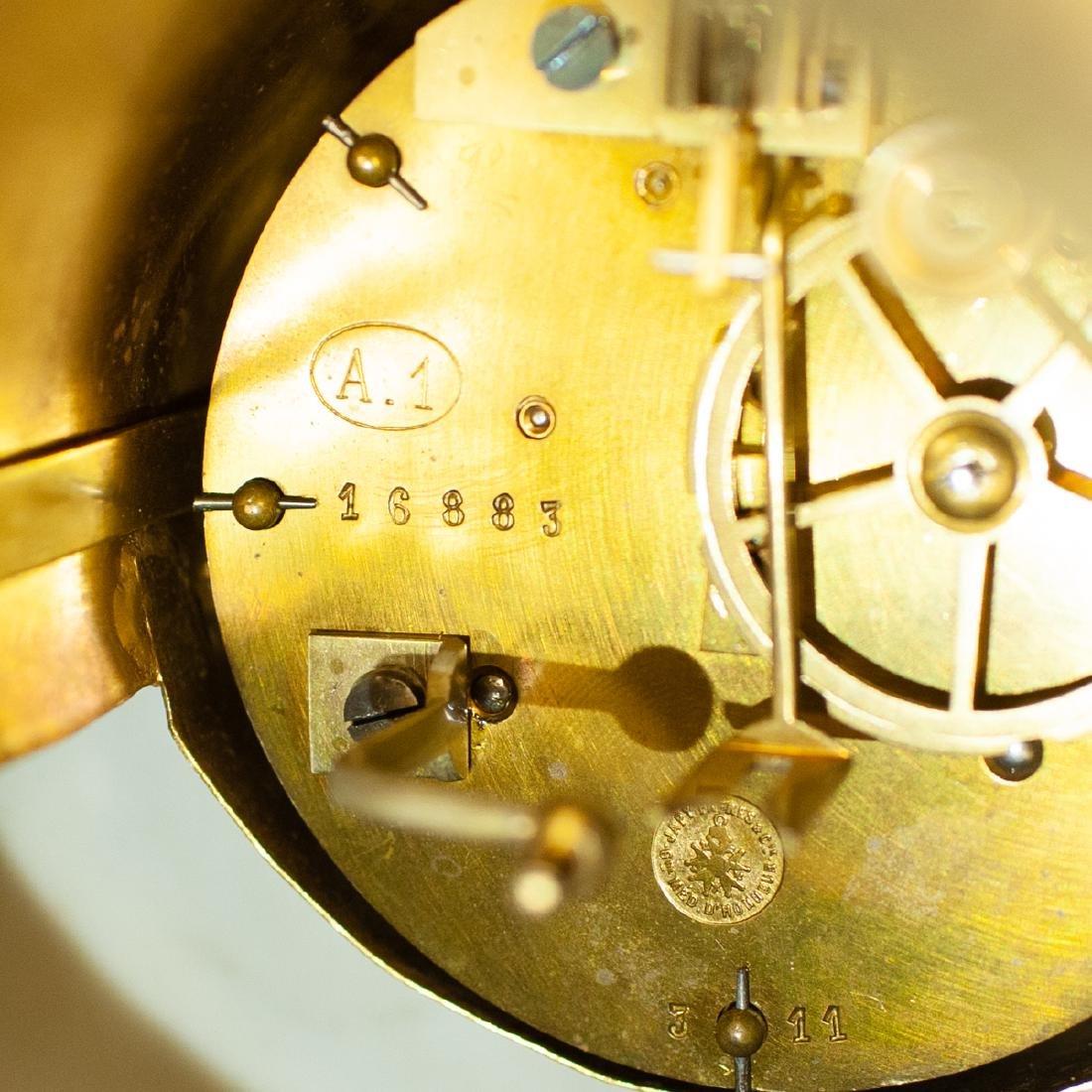 Japy Freres Sevres bronze gilt clock - 8