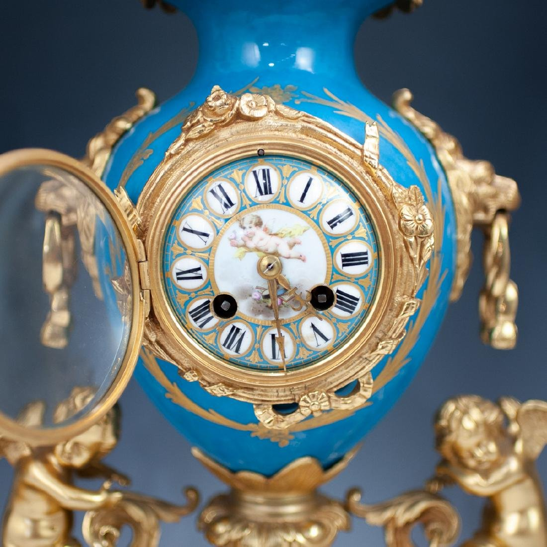 Japy Freres Sevres bronze gilt clock - 2