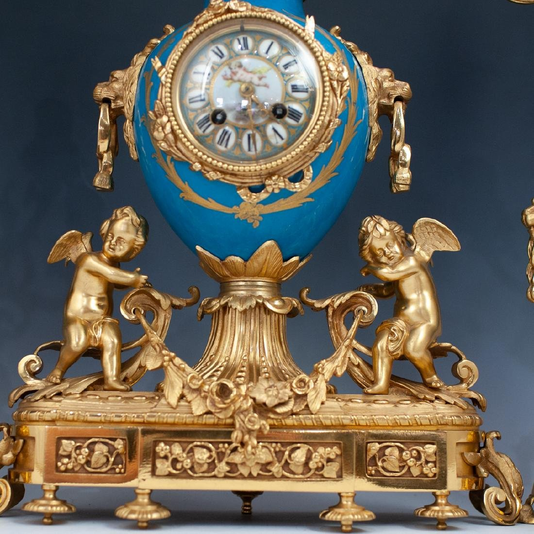 Japy Freres Sevres bronze gilt clock - 3