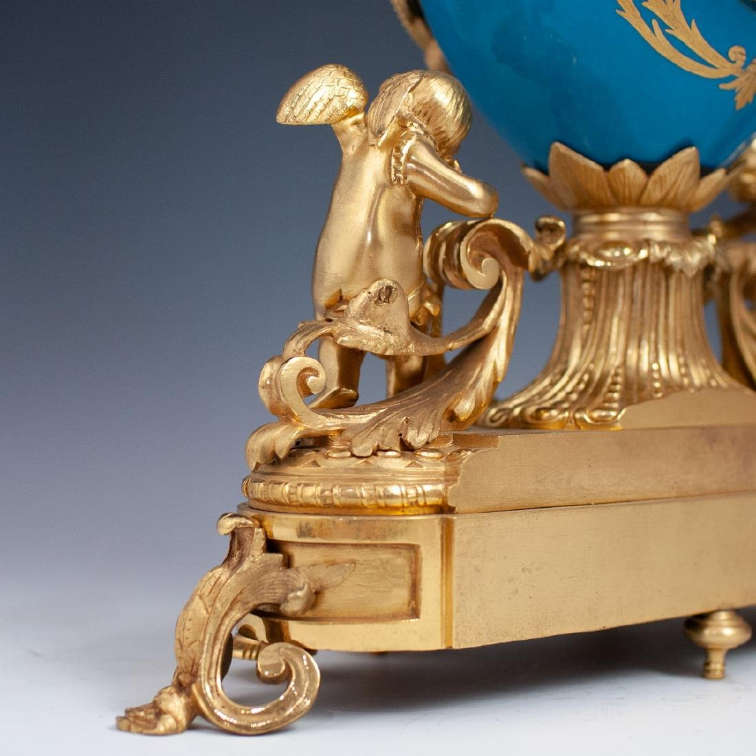 Japy Freres Sevres bronze gilt clock - 4