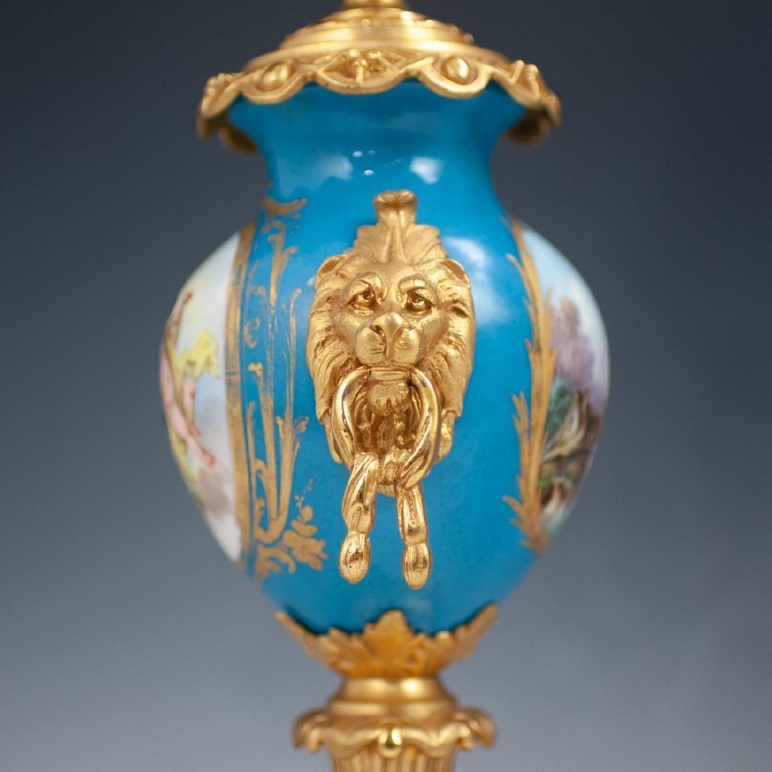 Japy Freres Sevres bronze gilt clock - 6