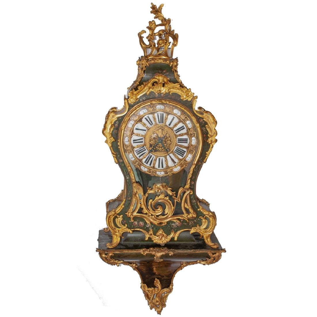 French Louis XV Style Cartel Clock