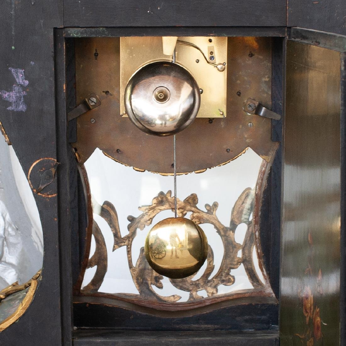 French Louis XV Style Cartel Clock - 4