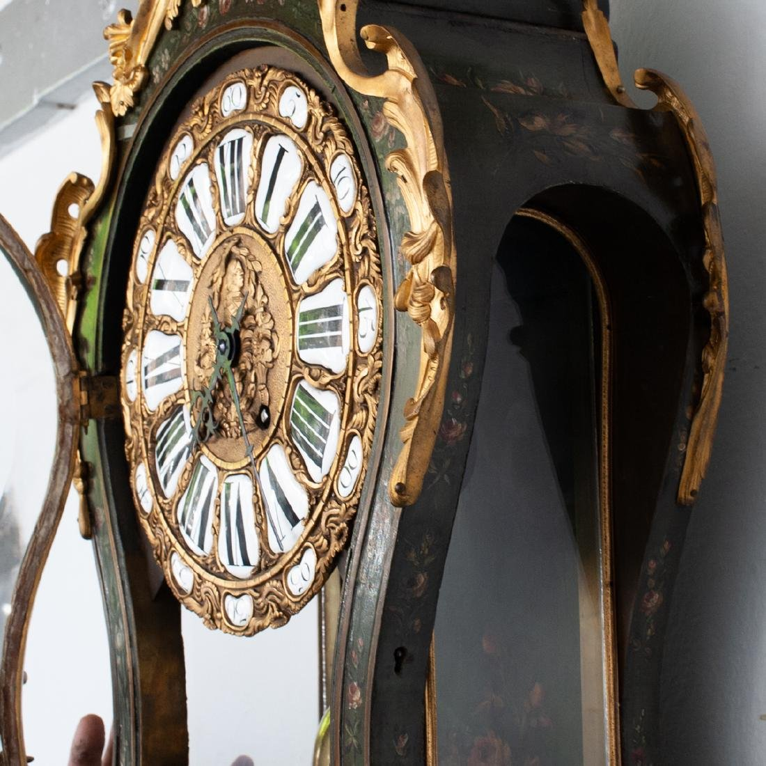 French Louis XV Style Cartel Clock - 7