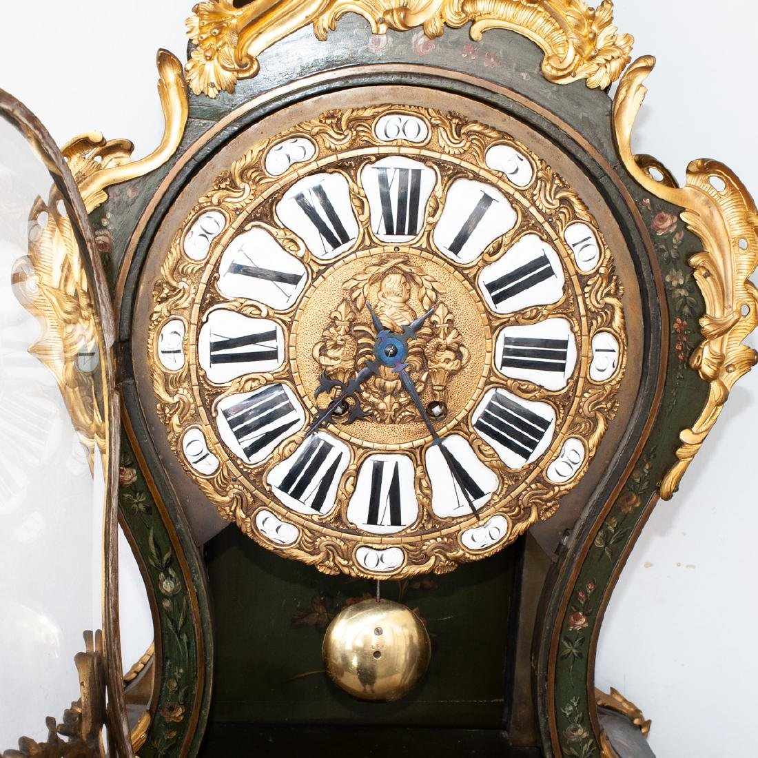 French Louis XV Style Cartel Clock - 8