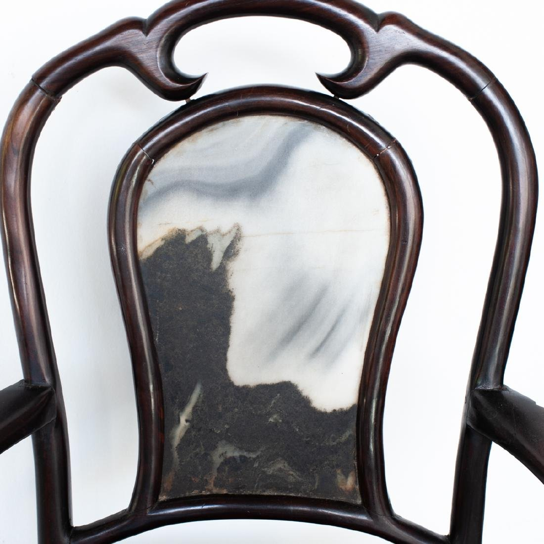 Carved Chinese Wooden Arm Chair - 3