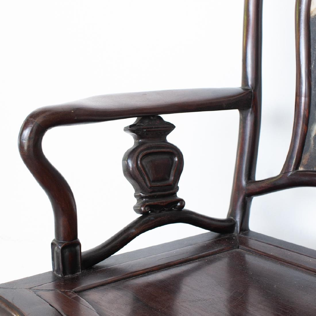 Carved Chinese Wooden Arm Chair - 4