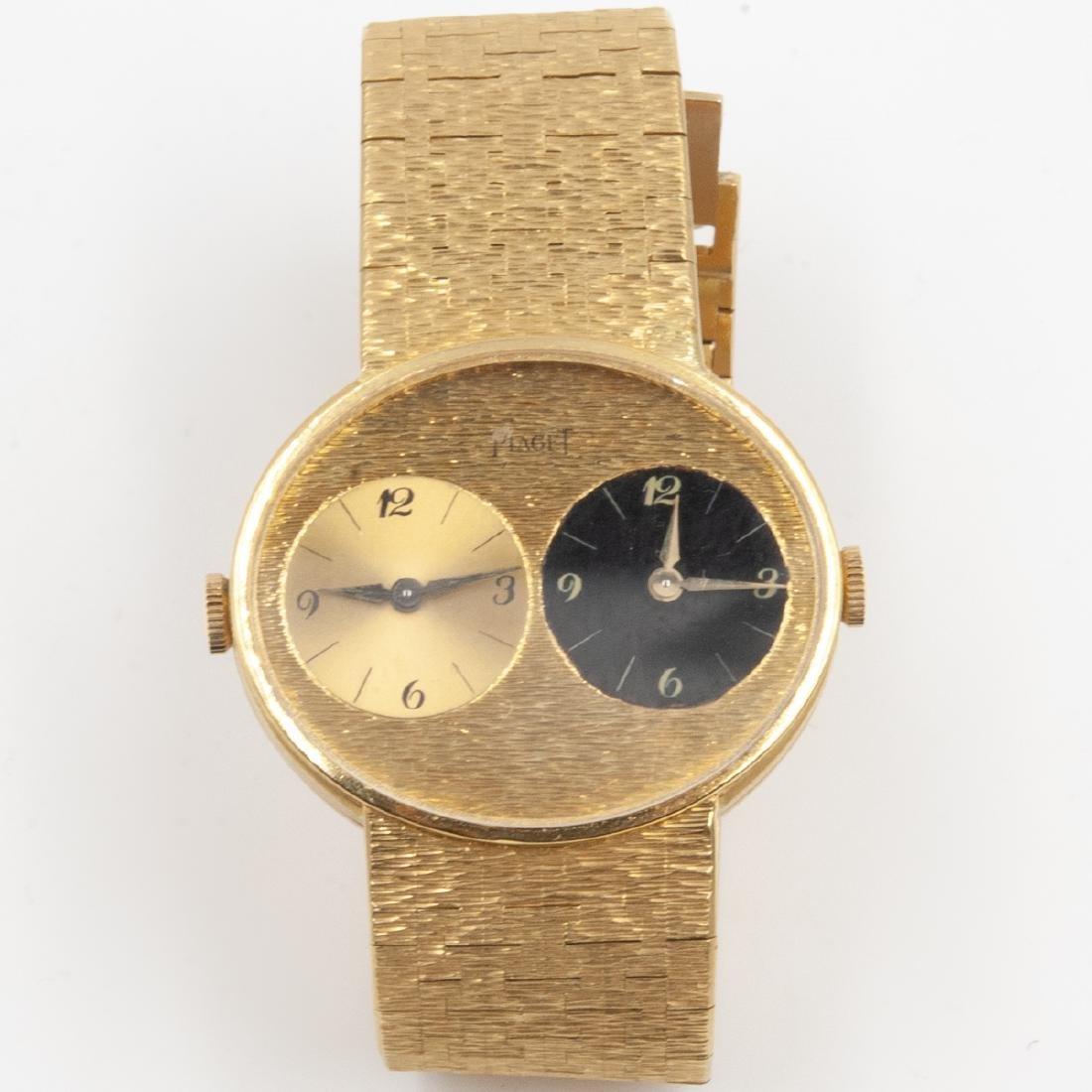 Vintage Piaget dual time watch - 2