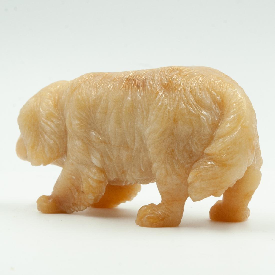 Russian Faberge Agate Dog Figurine - 4