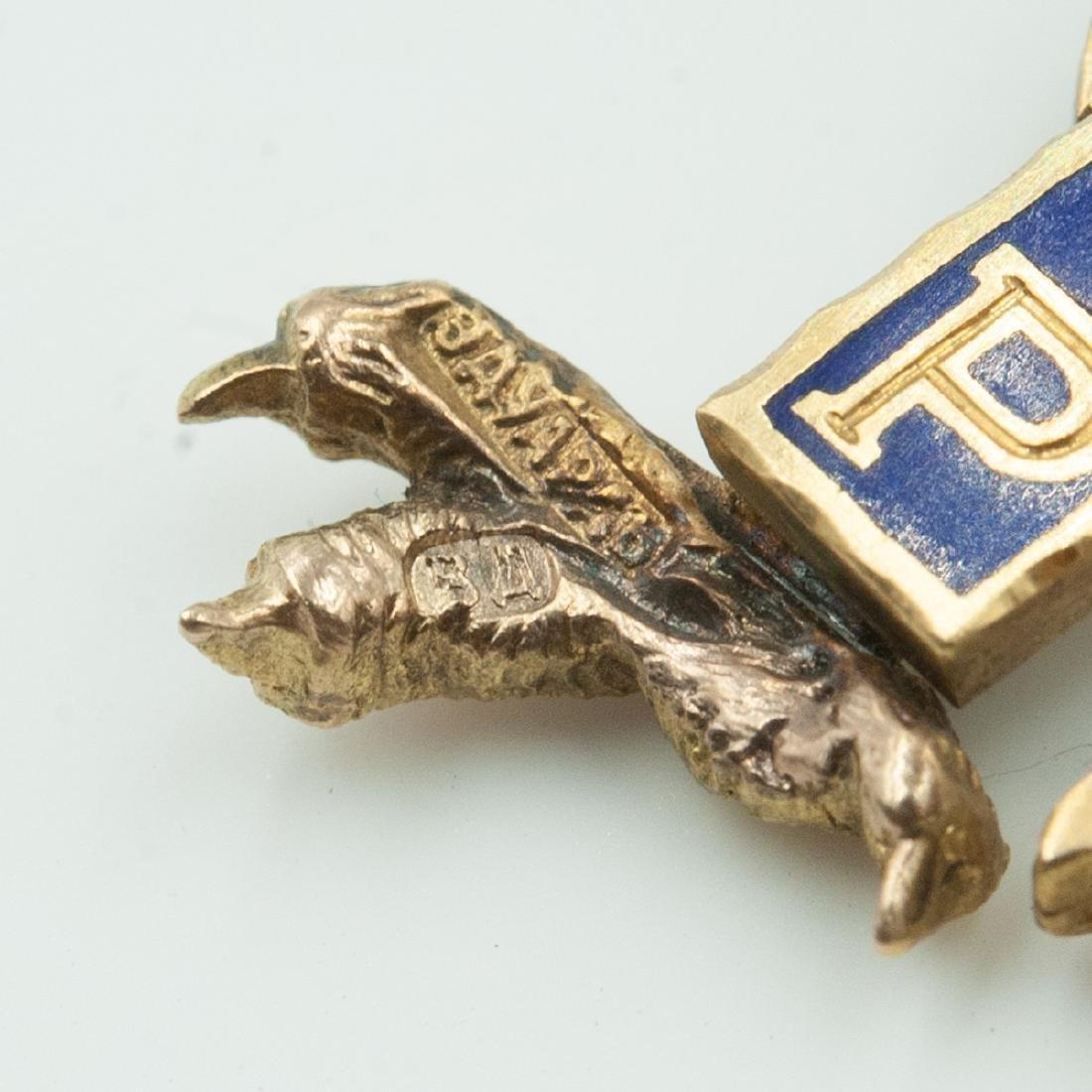 Rare Imperial Russian Gold Enameled Sash Badge - 8