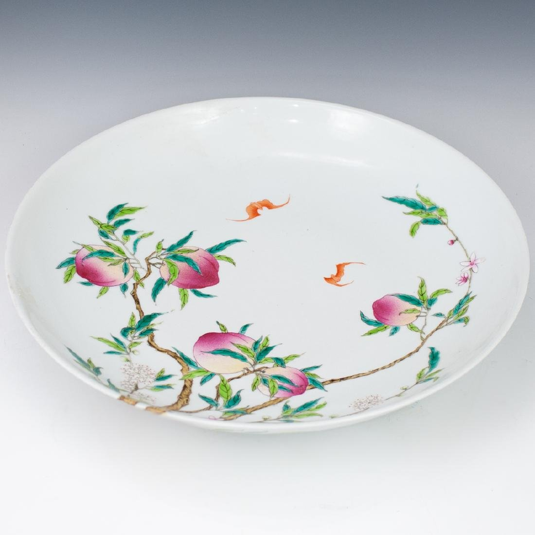 Qing Famille Rose Plate - 5