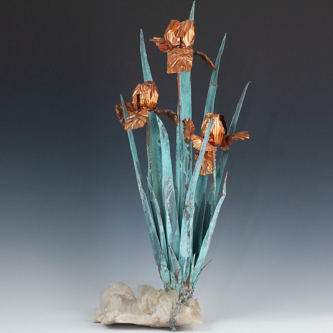 Vintage Metal & Quartz Flowers