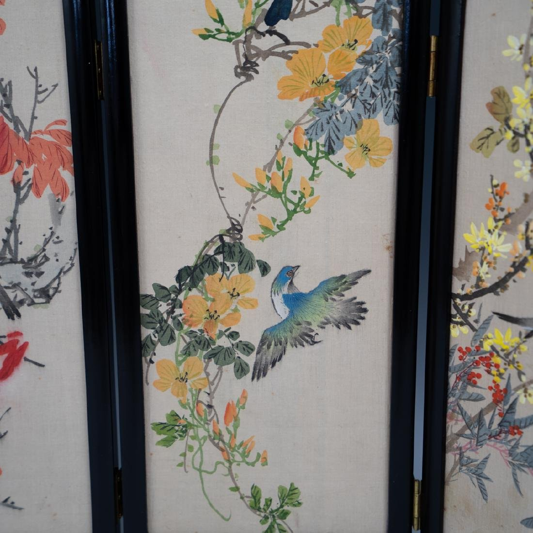 Chinese Wooden Panel & Silk Screen - 3