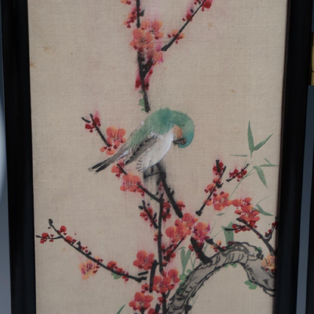 Chinese Wooden Panel & Silk Screen - 5