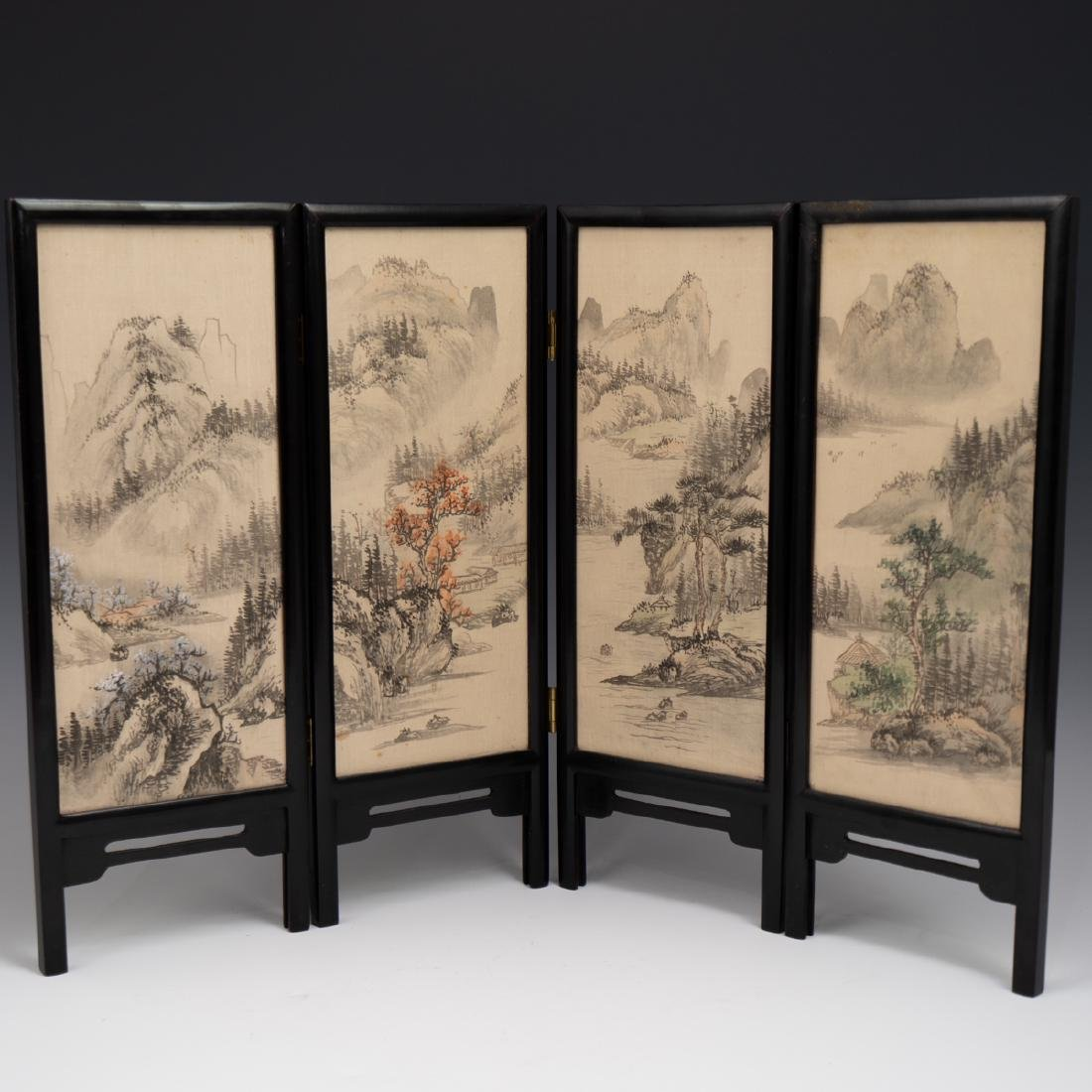 Chinese Wooden Panel & Silk Screen - 6