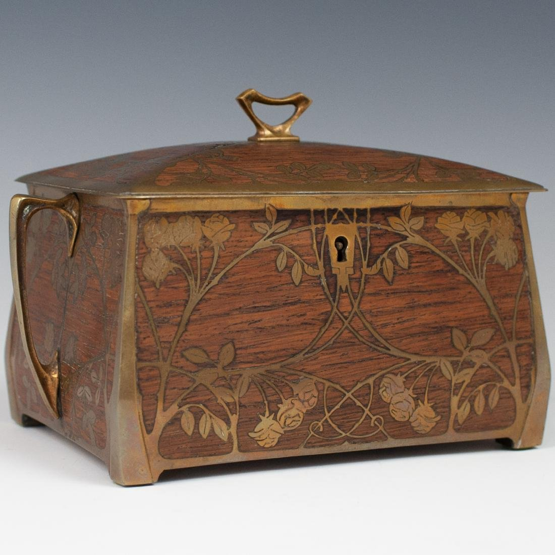 Art Nouveau Erhard Sohne Wood Box