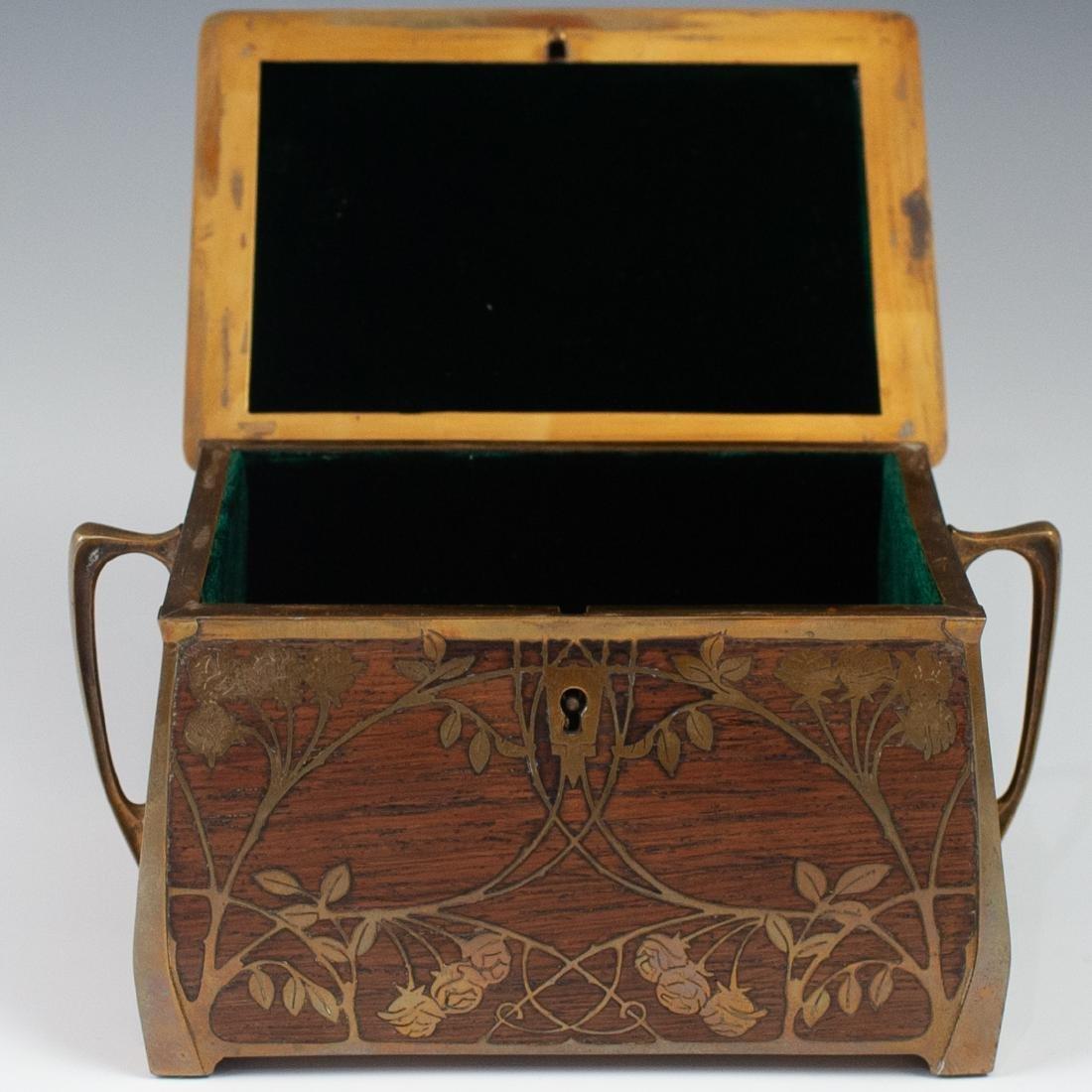 Art Nouveau Erhard Sohne Wood Box - 2
