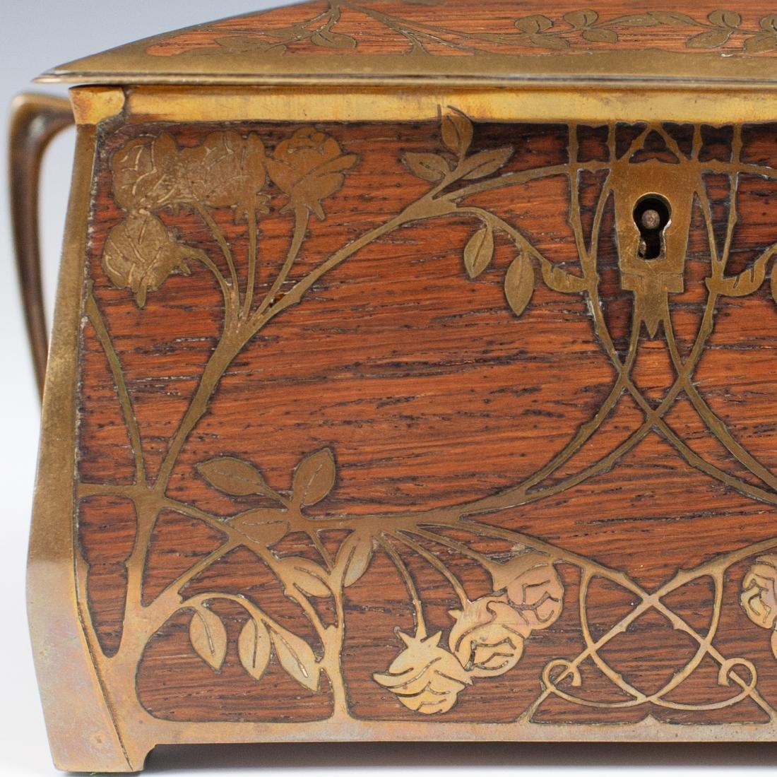 Art Nouveau Erhard Sohne Wood Box - 3