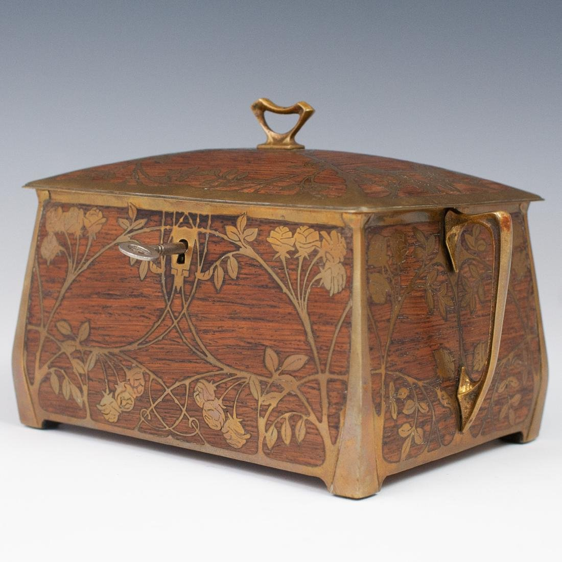 Art Nouveau Erhard Sohne Wood Box - 5