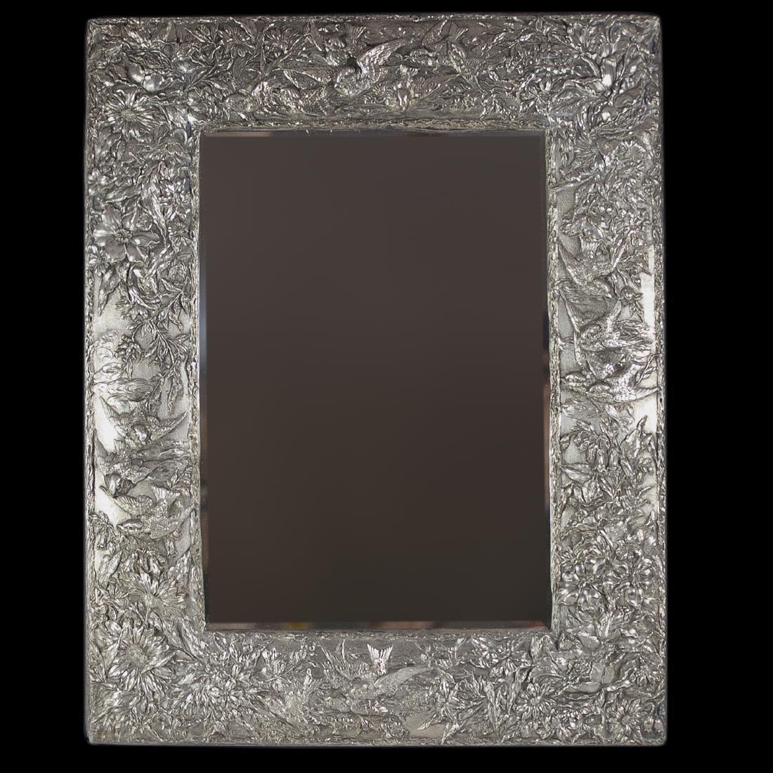 Art Nouveau Sterling Mirror
