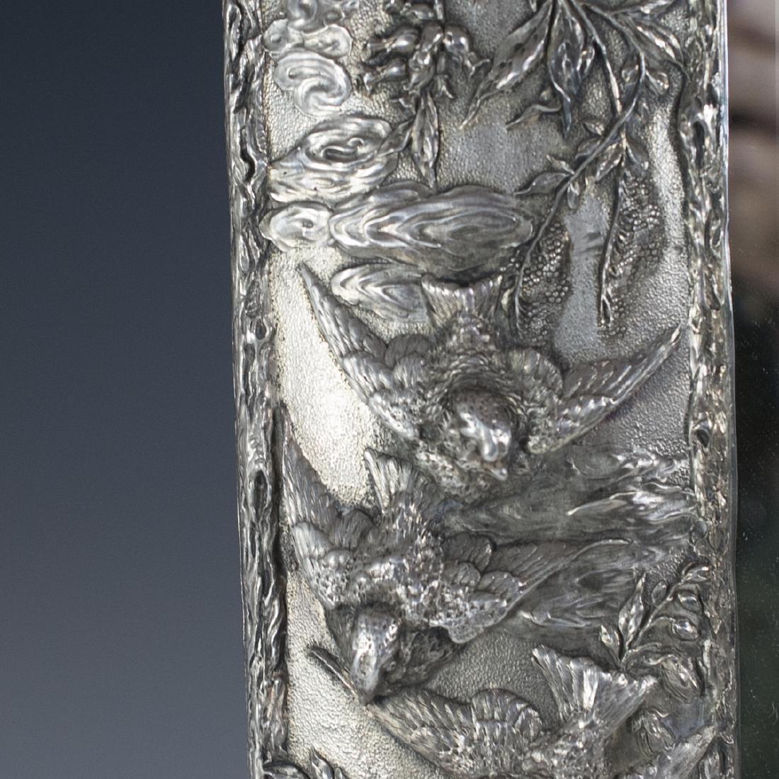 Art Nouveau Sterling Mirror - 2