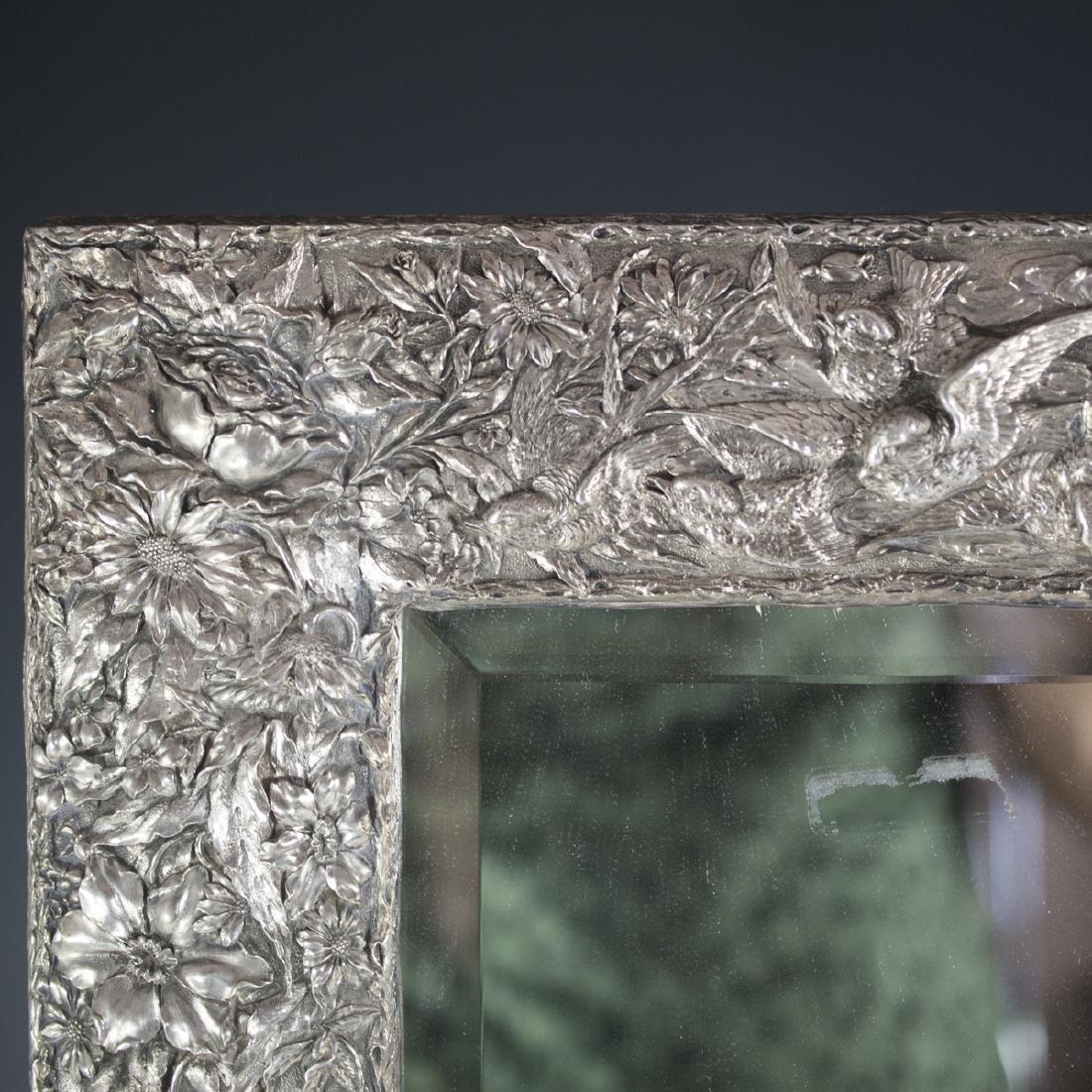 Art Nouveau Sterling Mirror - 4