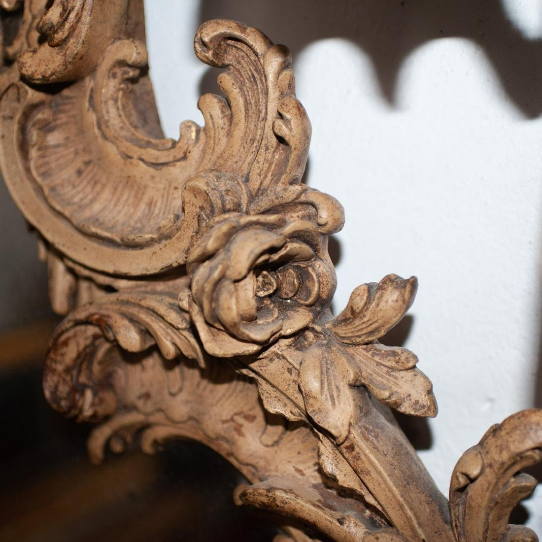 French Ornate Carved Wooden Mirror - 3