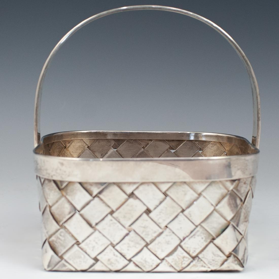 Vintage Sterling Cartier Basket - 2