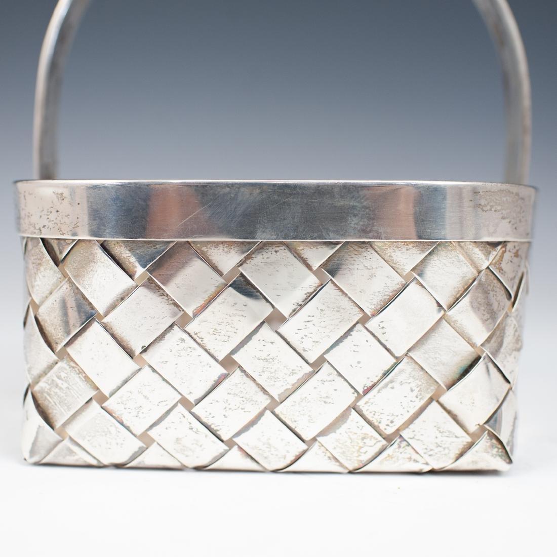 Vintage Sterling Cartier Basket - 3