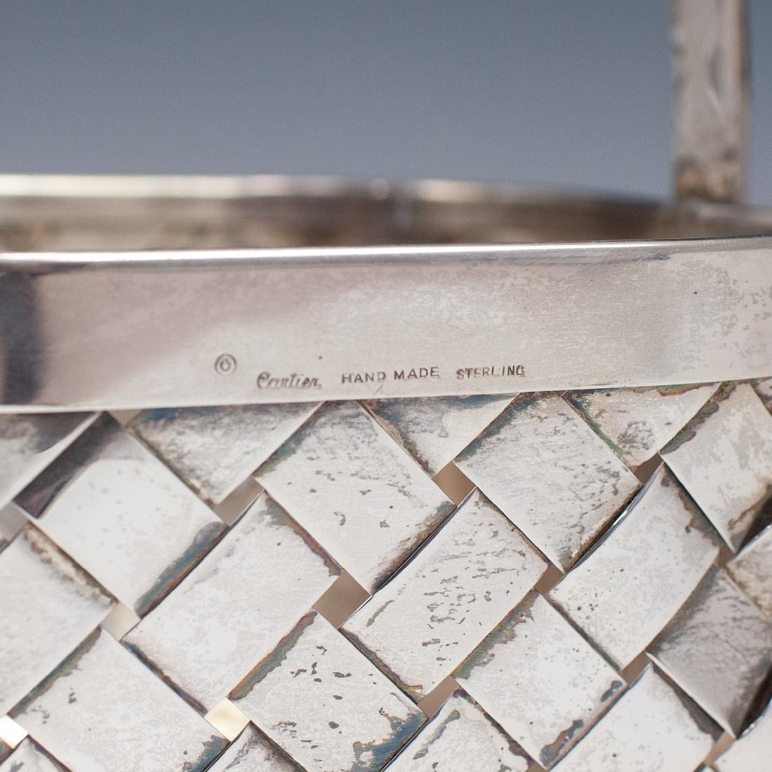 Vintage Sterling Cartier Basket - 6