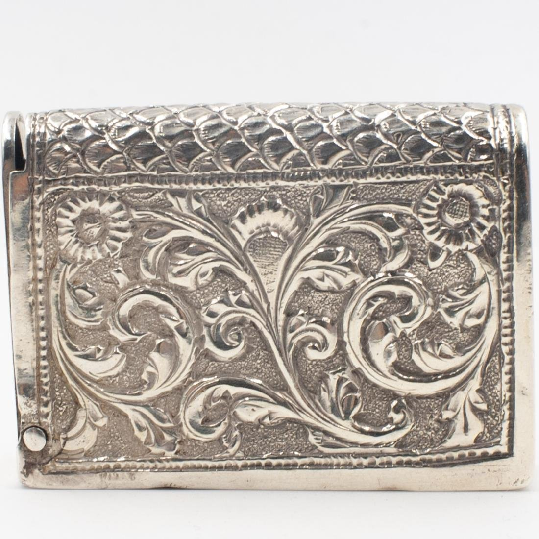 Antique Sterling Silver Match Box