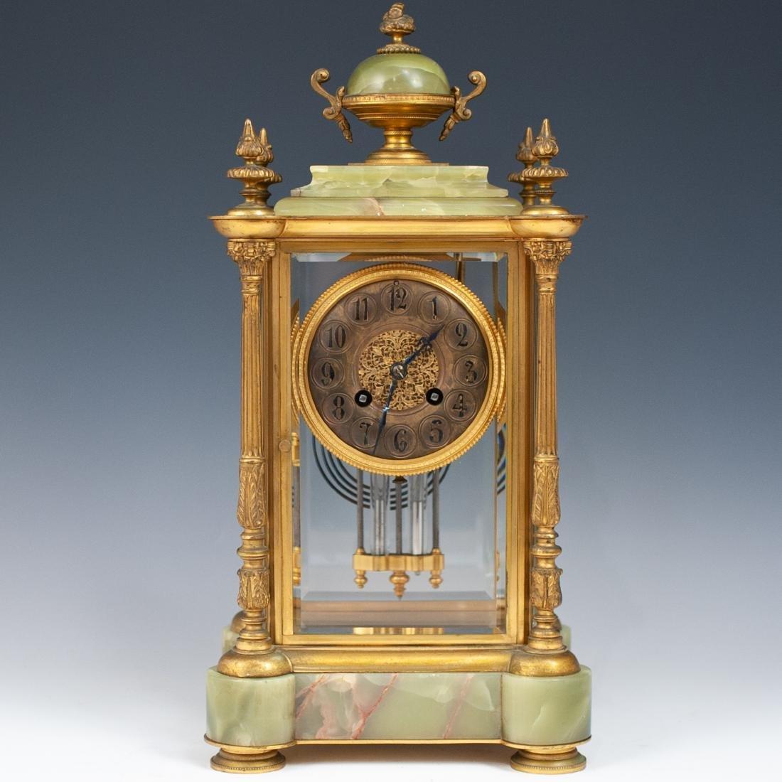 French Bronze & Onyx Clock