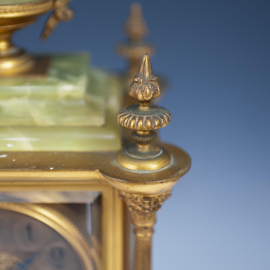 French Bronze & Onyx Clock - 3