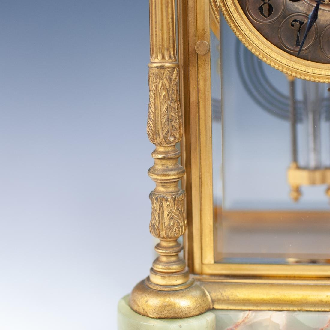 French Bronze & Onyx Clock - 5