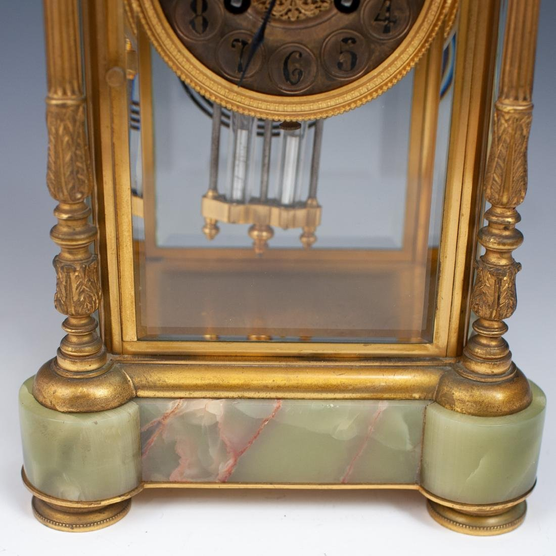 French Bronze & Onyx Clock - 6