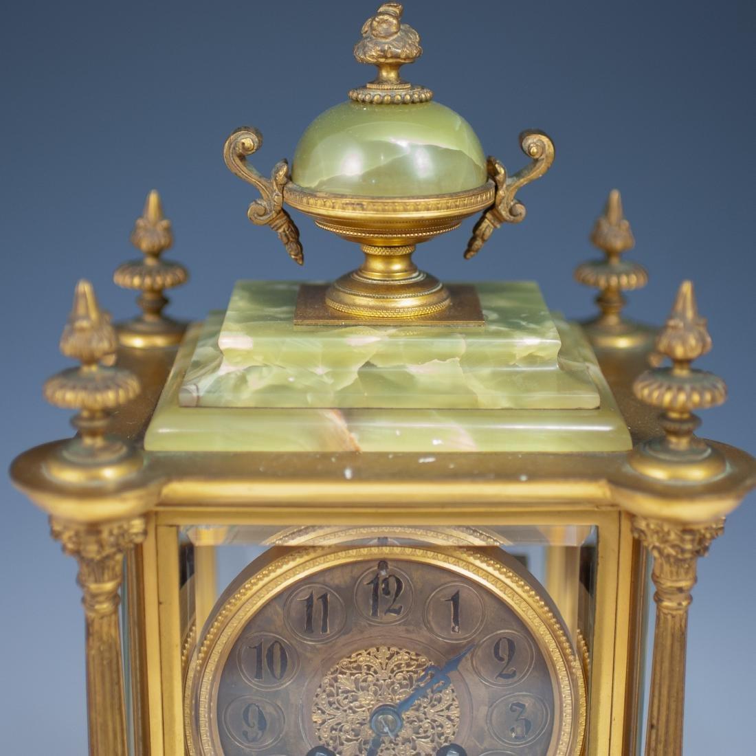 French Bronze & Onyx Clock - 7