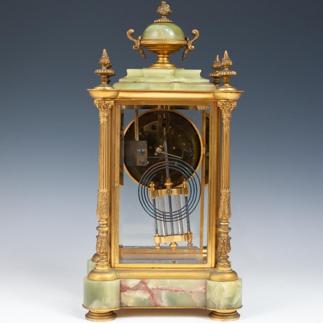 French Bronze & Onyx Clock - 8