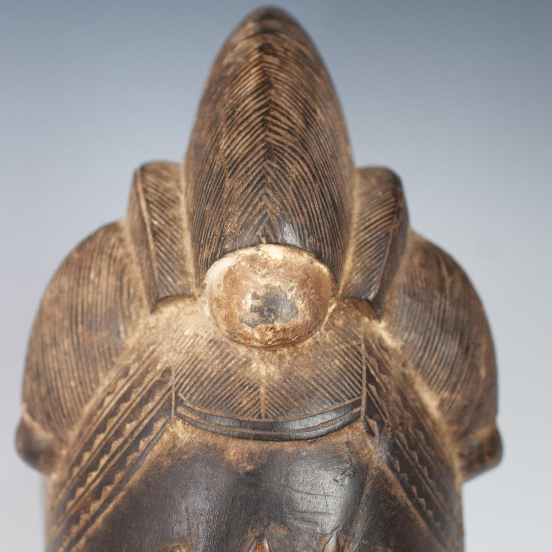 Carved Wooden African Mask - 2