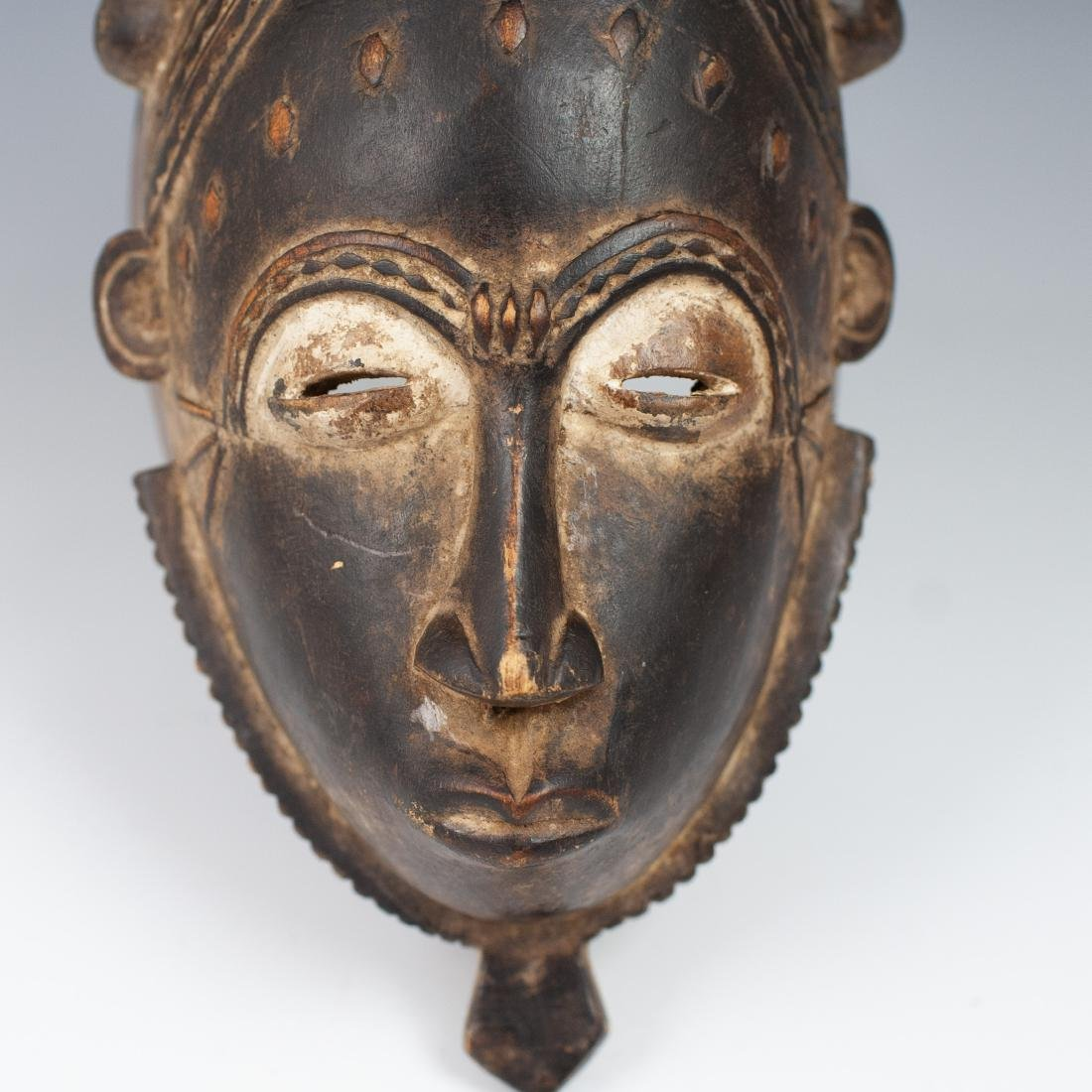 Carved Wooden African Mask - 3