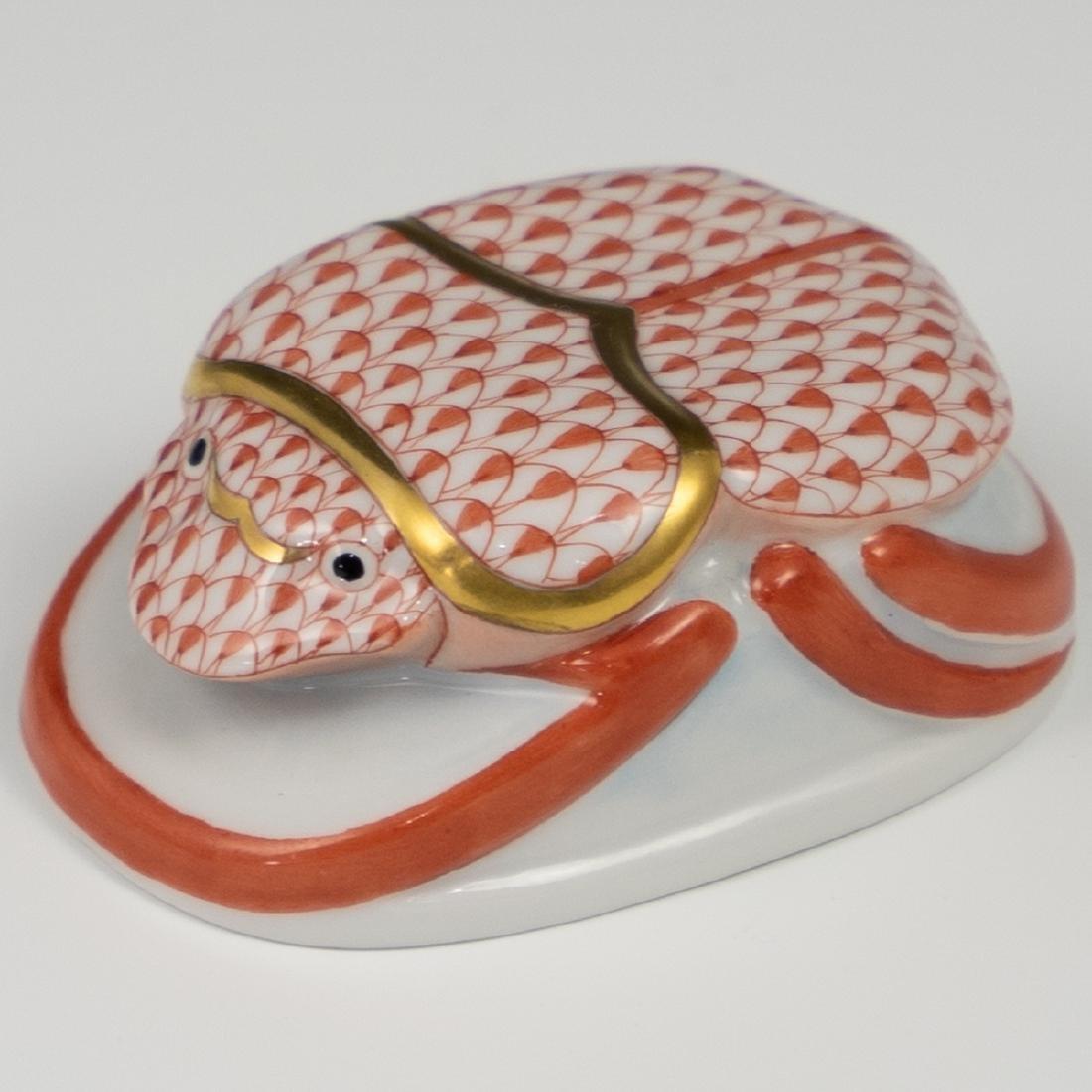 Herend Porcelain Fishnet Scarab