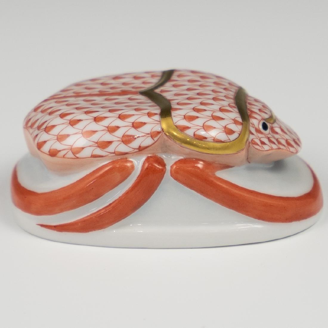 Herend Porcelain Fishnet Scarab - 2