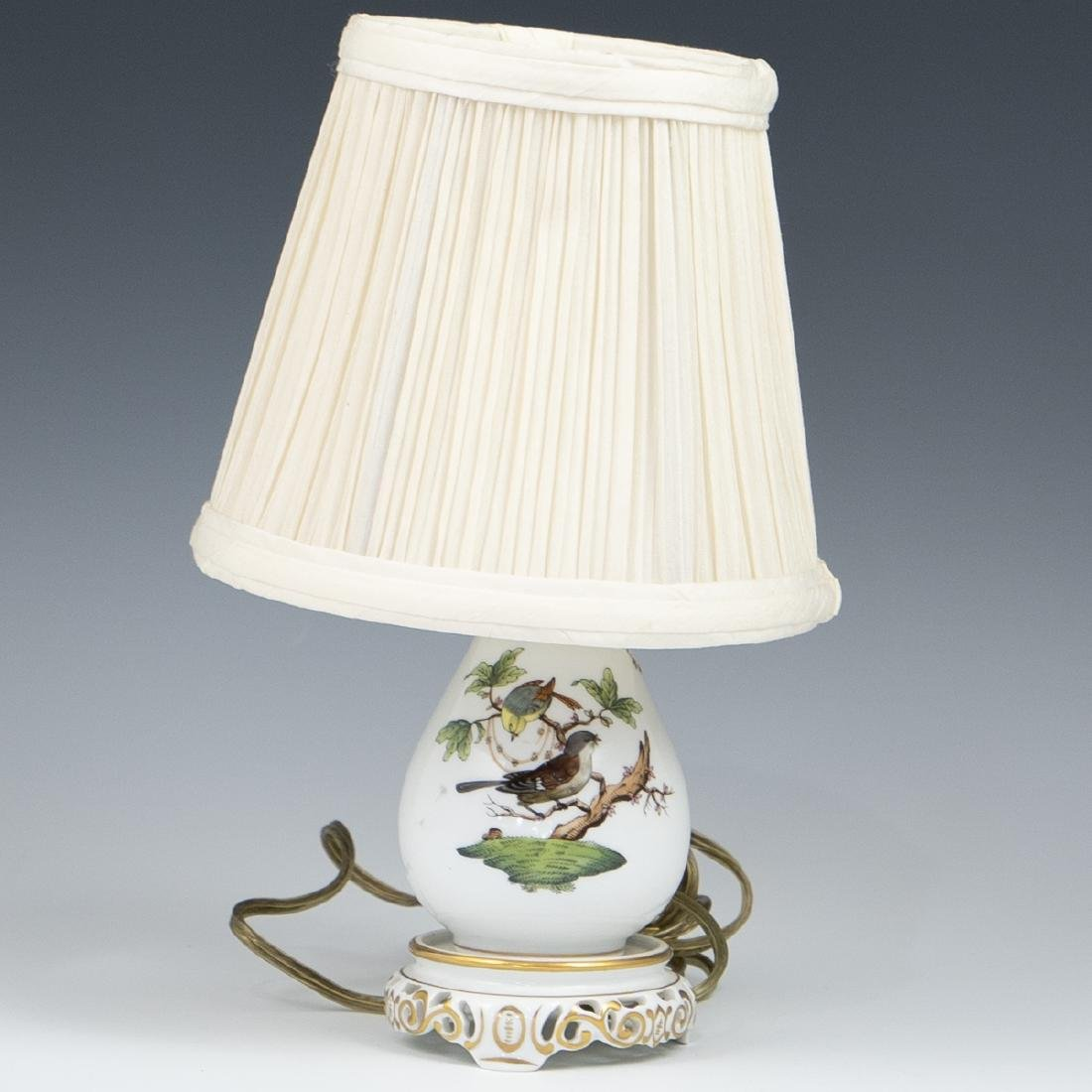 "Herend Porcelain 'Rothschild"" Lamp"