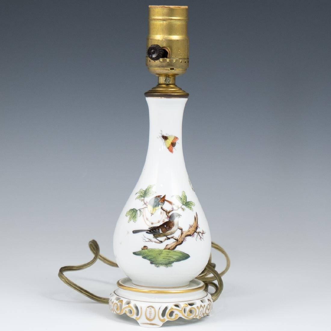 "Herend Porcelain 'Rothschild"" Lamp - 2"
