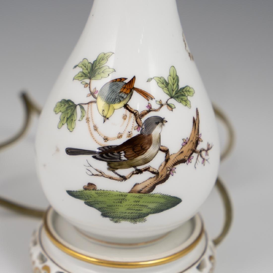 "Herend Porcelain 'Rothschild"" Lamp - 3"