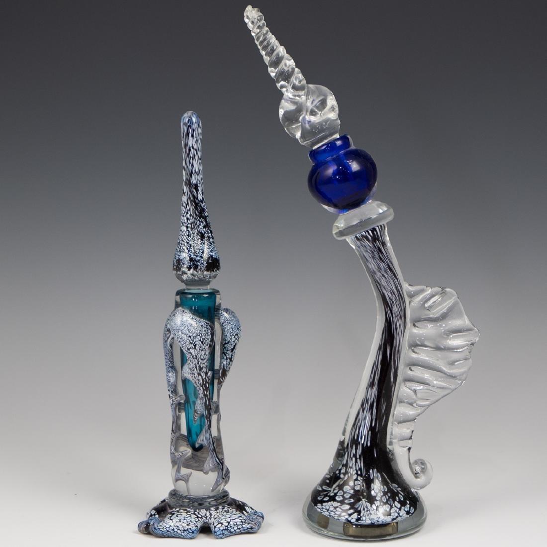 (2 Pc) Murano Glass Perfume Bottles
